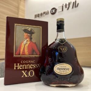 Hennessy (ヘネシー) XO 金キャップ クリアボトル 高価買取致しました!
